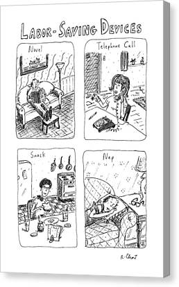 Labor-saving Devices Canvas Print by Roz Chast