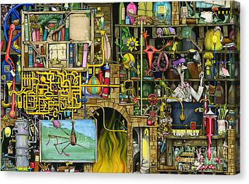 Laboratory Canvas Print by Colin Thompson