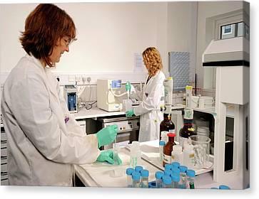 Laboratory Dosimeter Use Canvas Print by Public Health England