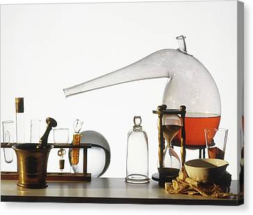 Laboratory Equipment Canvas Print - Laboratory Equipment by Dorling Kindersley/uig