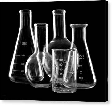 Flask Canvas Print - Laboratory Glassware by Jim Hughes