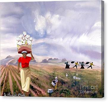 Laboring In The Fields Canvas Print