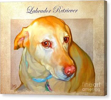 Labrador Art Canvas Print by Iain McDonald