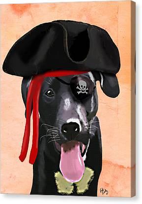 Labrador Pirate Canvas Print by Kelly McLaughlan