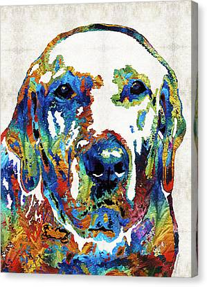 Chocolate Canvas Print - Labrador Retriever Art - Play With Me - By Sharon Cummings by Sharon Cummings