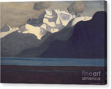 Lac Leman And Les Dents-du-midi Canvas Print by Felix Edouard Vallotton