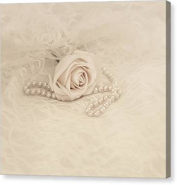 Love Laces Canvas Print - Lace And Promises by Kim Hojnacki