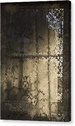 Canvas Print featuring the photograph Lace Curtain 1 by Jocelyn Friis