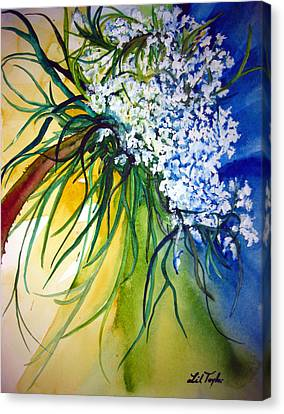 Canvas Print featuring the painting Lace by Lil Taylor
