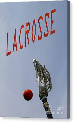 Lacrosse Is The Word 1 Canvas Print