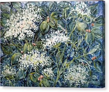Lacy Blue Canvas Print by Louise Peardon