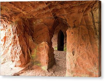 Lacy's Caves On The River Eden Canvas Print by Ashley Cooper