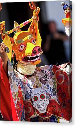 Tantra Canvas Print - Ladakh, India The Ceremonial Masked by Jaina Mishra