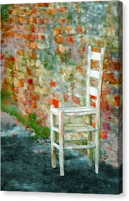 Ladder Back Chair Canvas Print by Brenda Bryant