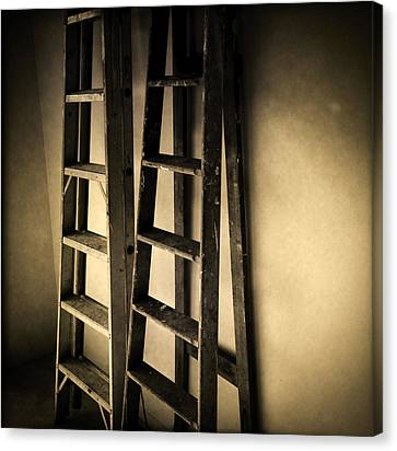 Ladders Canvas Print by Les Cunliffe