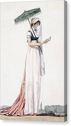 Ladies Elegant Summer Dress Canvas Print by English School