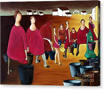 Ladies In Red Canvas Print