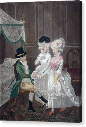 Ladies Of Pleasure, 1781 Canvas Print by English School