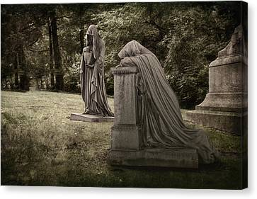 Sadness Canvas Print - Ladies Of Sorrow by Tom Mc Nemar