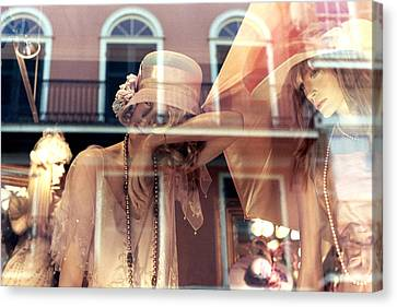 Canvas Print featuring the photograph Ladies Of The French Quarter by Nadalyn Larsen