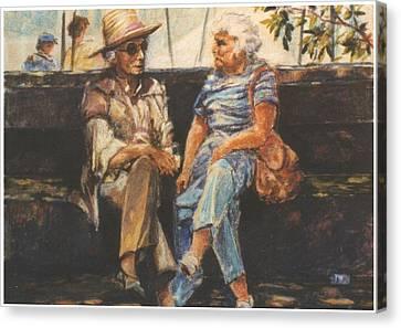 Ladies Of Washington Square Canvas Print