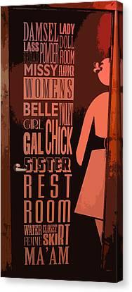 Ladies Room Canvas Print by Patricia Januszkiewicz