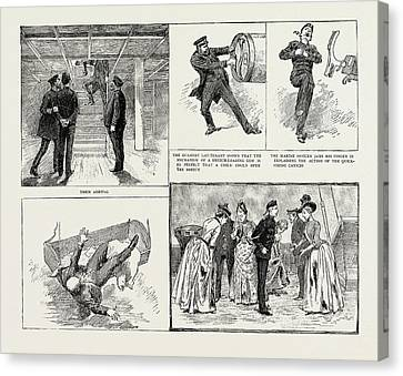 Ladies Visit To An Ironclad, 1889 Their Arrival Canvas Print by Litz Collection