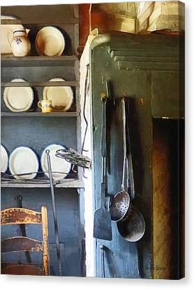 Cook Canvas Print - Ladles And Spatula In Kitchen by Susan Savad