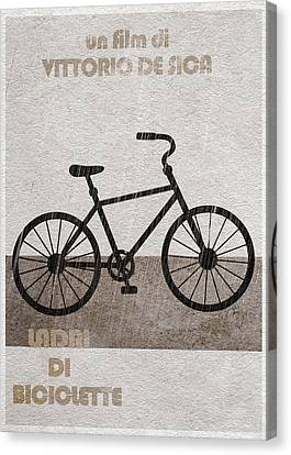 Ladri Di Biciclette Canvas Print by Ayse Deniz