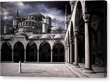 Cupola Canvas Print - Lady And The Mosque by Daniel Murphy