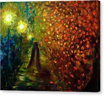 Lady Autumn Canvas Print by Lilia D