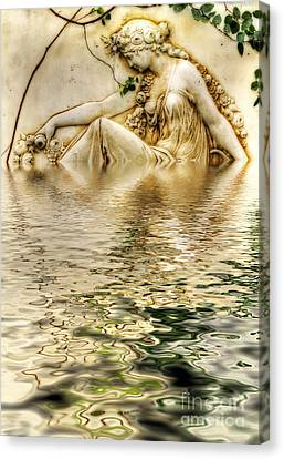 Lady Bathing Canvas Print