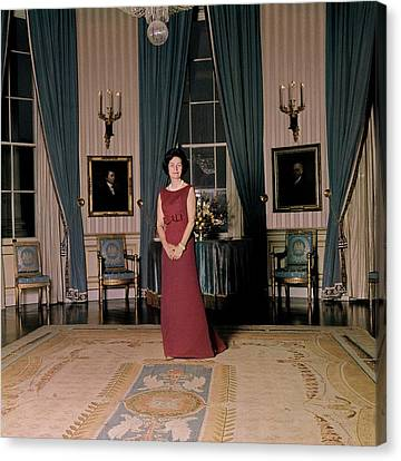 First Lady Canvas Print - Lady Bird Johnson In The White House by Horst P. Horst