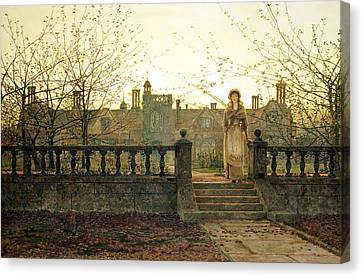 Lady Bountiful Canvas Print by John Atkinson Grimshaw