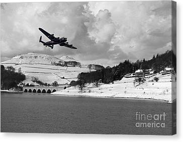 Lady Bower Snowfall  Canvas Print