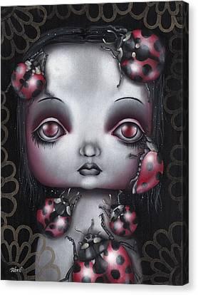 Lady Bug Girl Canvas Print