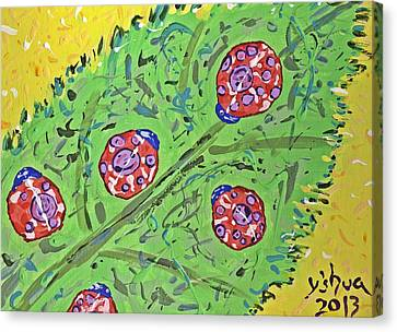 Lady Bug Shenanigans Canvas Print by Yshua The Painter