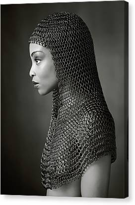Lady Chainmail Canvas Print