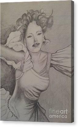 Lady Canvas Print by Debra Piro