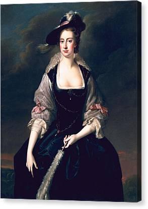 Lady Frances Courtenay, C.1741 Canvas Print by Thomas Hudson
