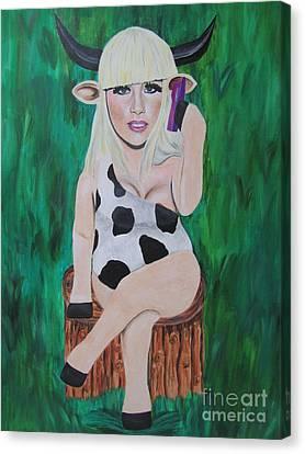 Lady Gaga Canvas Print by Jeepee Aero