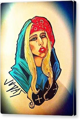 Lady Gaga Judas Canvas Print
