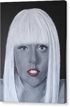 Lady Gaga Canvas Print - Lady Gaga 'poker Face' by David Dunne