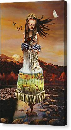 Lady Gaia Canvas Print
