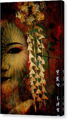 Lady Geisha Canvas Print