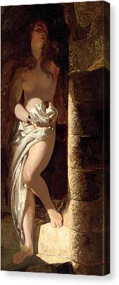 Lady Godiva  Canvas Print by Edward Henry Corbould