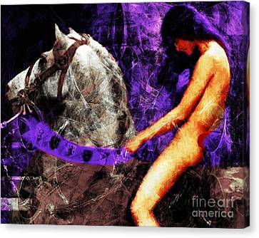 Lady Godiva Revisited 20140315v2c3 Horizontal Canvas Print by Wingsdomain Art and Photography