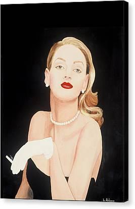 Lady In Black Canvas Print by Jo Adams