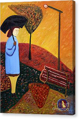 Lady In Blue Canvas Print by Vadim Levin