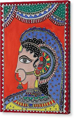 Lady In Ornaments Canvas Print by Shakhenabat Kasana